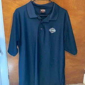 Men's blue Harley Davidson polo shirt